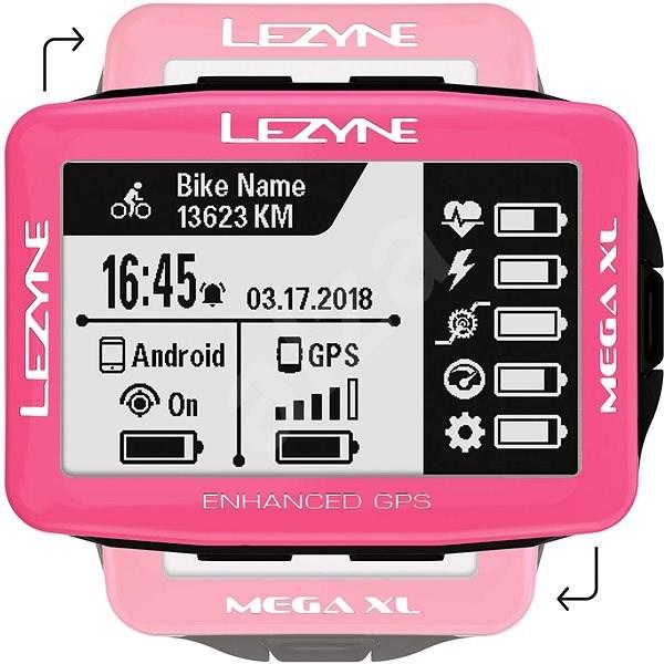 Lezyne Mega XL GPS Pink - Cyklocomputer