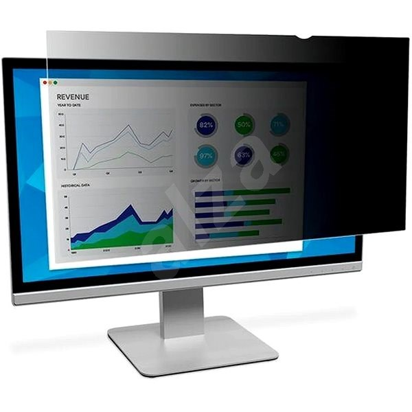 "3M on 27"" Widescreen 16: 9 LCD Screen, Black - Privacy filter"