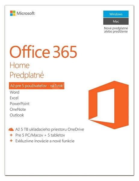 Microsoft Office 365 Home Premium SK (elektronická licence) - Elektronická licencia