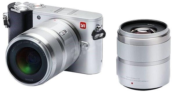 Yi M1 4K Mirrorless Camera Silver + 12–40 mm + 42,5 mm - Digitálny fotoaparát