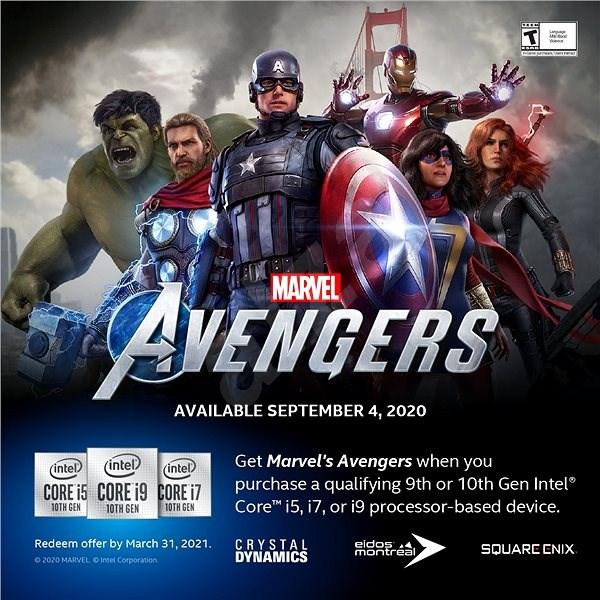 Intel Marvel's Avengers Gaming Bundle – nutné uplatniť do 31. 3. 2021 - Promo elektronický kľúč