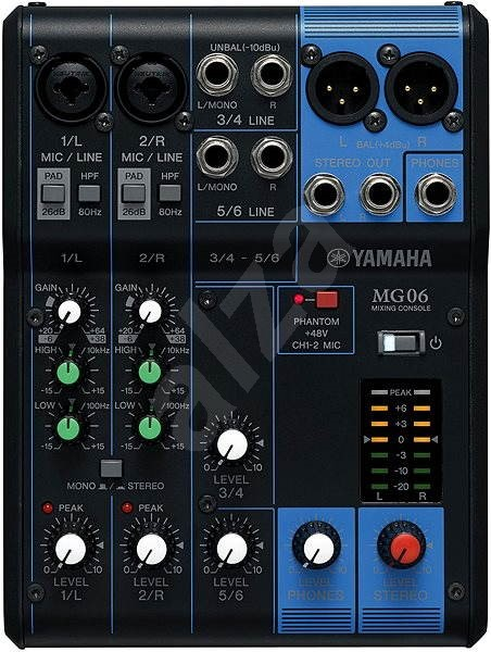 YAMAHA MG06 - Mixážny pult