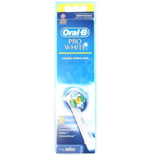 BRAUN Oral-B extra brushes 3D White 2 ks - Náhradný nadstavec pre zubné kefky