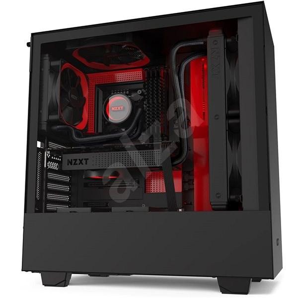 NZXT H510i čierno-červená - Počítačová skriňa