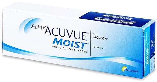 Acuvue Moist 1 Day (30 šošoviek) dioptria: -8.00, zakrivenie: 8.50 - Kontaktné šošovky