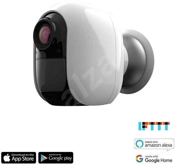 iQ-Tech Smartlife WC012, vonkajšia Smart WiFi IP kamera batériová, IP66 - IP kamera