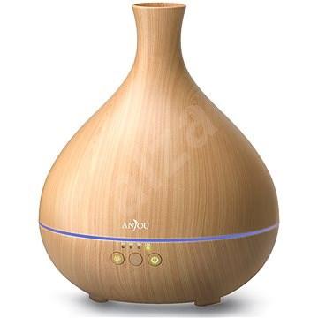 Anjou AJ-AD012 tmavo hnedý drevo LED 500 ml - Aróma difuzér