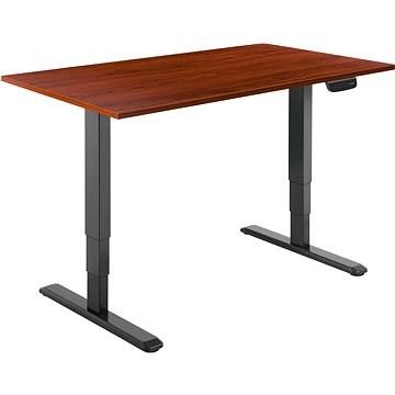 AlzaErgo Table ET1 NewGen čierny + doska TTE-03 160 × 80 cm hnedá dyha - Stôl