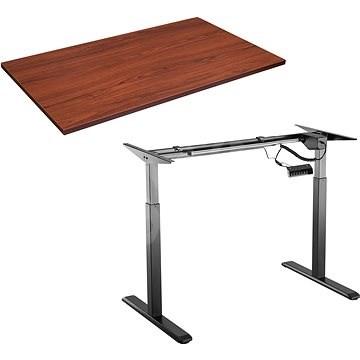 AlzaErgo Table ET2 čierny + doska TTE-03 160 × 80 cm hnedá dyha - Stôl