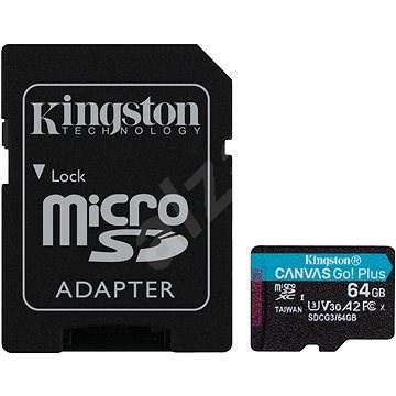 Kingston Canvas Go! Plus microSDXC 64GB + SD adaptér - Pamäťová karta