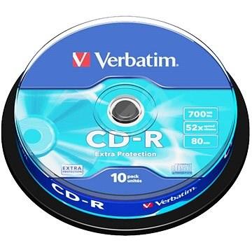 Verbatim CD-R DataLife Protection 52×, 10 ks Cake-Box - Médium