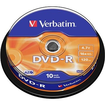 Verbatim DVD-R 16×, 10 ks Cake-Box - Médium