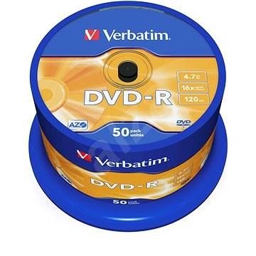 Verbatim DVD-R 16x, 50 ks cakebox - Médium