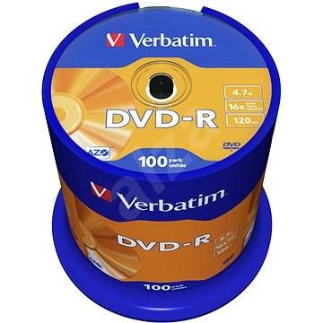 Verbatim DVD-R 16x, 100 ks cakebox - Médium