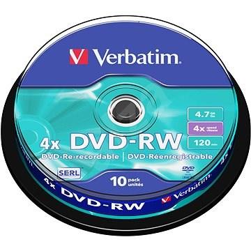 Verbatim DVD-RW 4x, 10ks vakebox - Médium