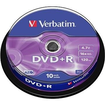 Verbatim DVD+R 16×, 10 ks Cake-Box - Médium