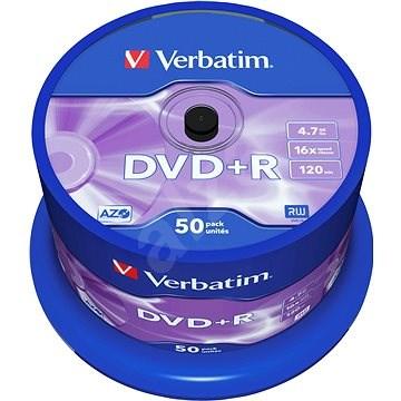 Verbatim DVD+R 16x, 50ks CakeBox - Médium