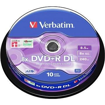 Verbatim DVD+R 8x, Dual Layer 10 ks cakebox - Médium