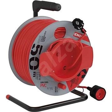 EMOS PVC predlžovací kábel na bubne – spojka, 50 m, 1,5 mm2 - Predlžovací kábel