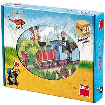 Dino drevené kocky kubus - Krtko a dopravné prostriedky - Obrázkové kocky