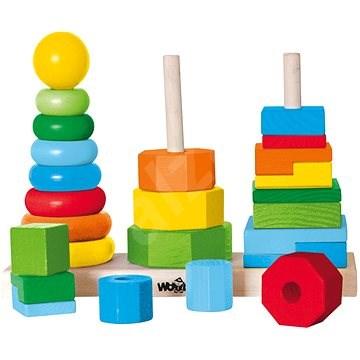 Woody - Súprava skladacích veží - Didaktická hračka