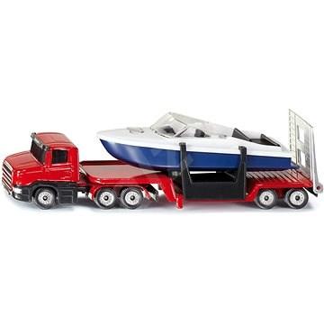 Siku Blister – Tahač s valníkom a člnom - Kovový model