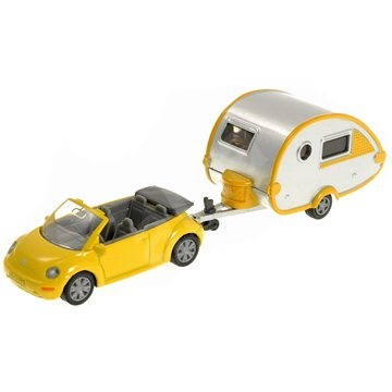 Siku Blister - VW Chrobák s karavanom - Kovový model
