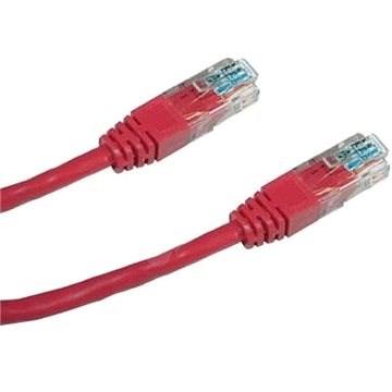 Datacom CAT5E UTP červený 1 m - Sieťový kábel
