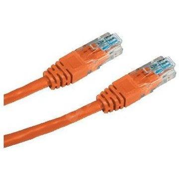 Datacom CAT5E UTP oranžový 1 m - Sieťový kábel