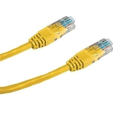 Datacom CAT5E UTP žltý 3 m - Sieťový kábel