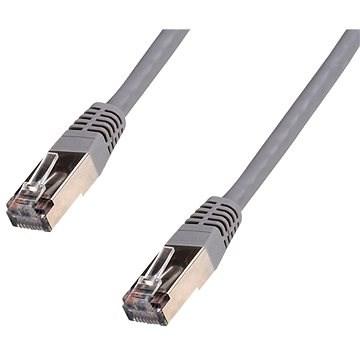 Datacom CAT5E FTP sivý, 0,5 m - Sieťový kábel