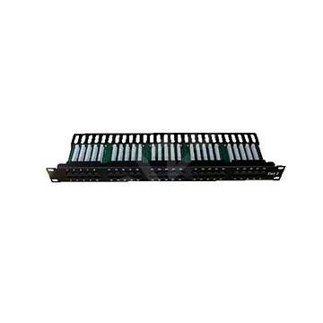 Datacom, ISDN Integrated, 50 portov RJ45 STP kat. 3, 1U, čierny - Patch panel