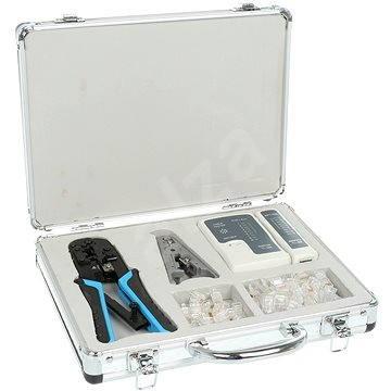 Network Kit, sieťový tester, krimpovacie kliešte 8P + 6P, RJ45 konektory - Set