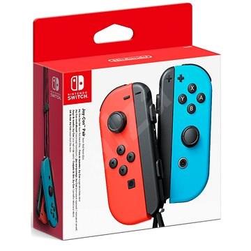 Nintendo Switch Joy-Con ovládače Neon Red / Neon Blue - Gamepad