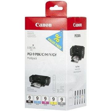 Canon PGI-9 PBK/C/M/Y/GY MultiPack - Cartridge