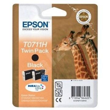 Epson T0711H Double pack čierna 2ks - Cartridge