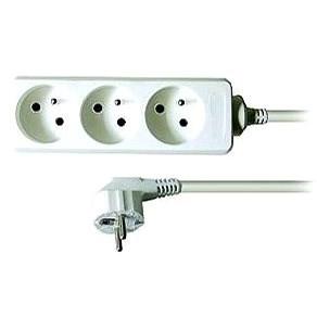 Solight Predlžovací prívod, 3 zásuvky, biely, 3 m - Predlžovací kábel