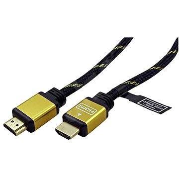 ROLINE HDMI Gold High Speed s Ethernetom (HDMI M<-> HDMI M), pozlátené konektory, 10m - Video kábel