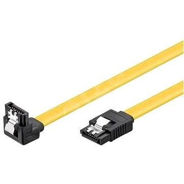 PremiumCord SATA III 90° 0.3m - Dátový kábel