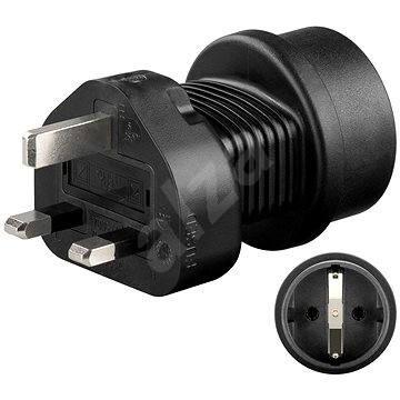 Goobay UK / CZ čierny - Cestovný adaptér