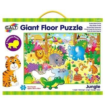 GALT Veľké podlahové puzzle – zvieratká v džungli - Vkladačka
